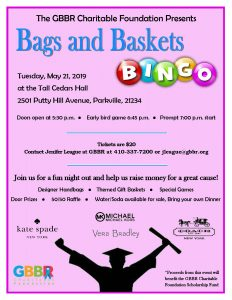 Bags and Baskets Bingo 2019