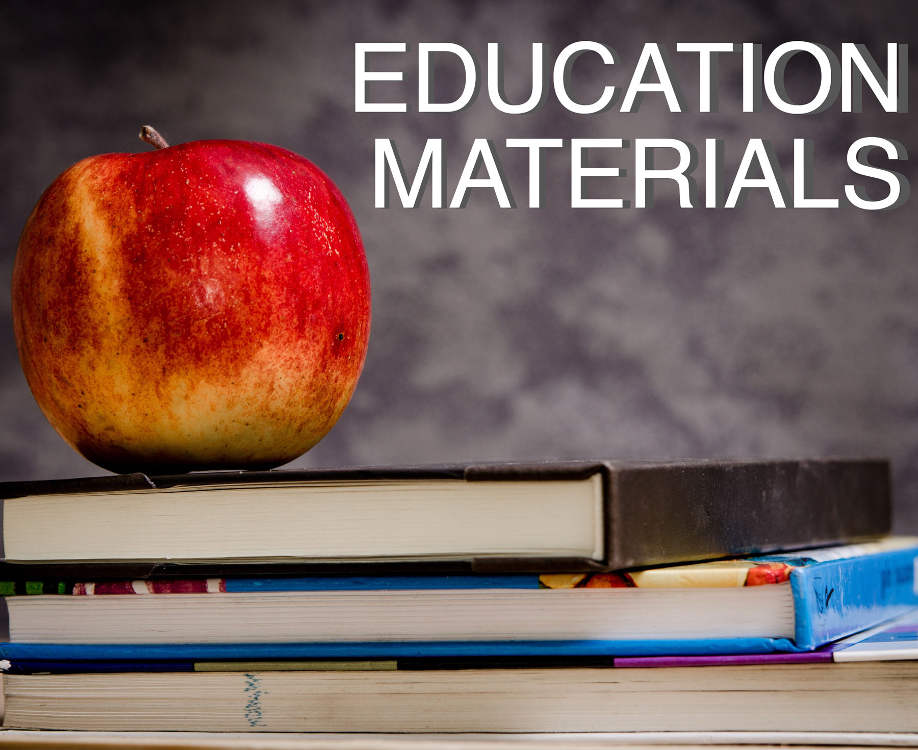 education materials apple and books